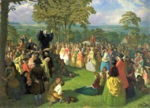 John Wesley Preaching