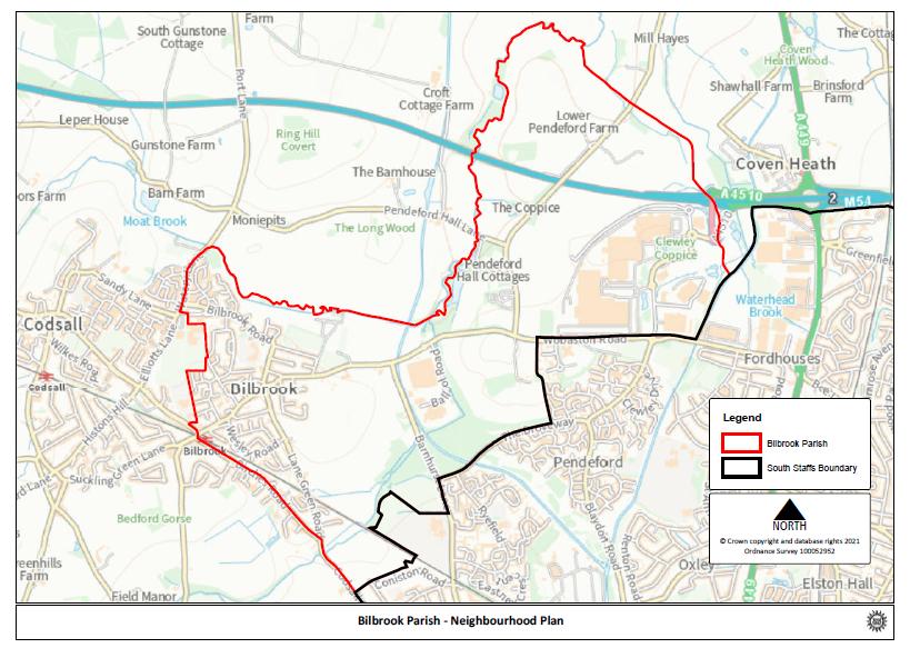 Map of designated area