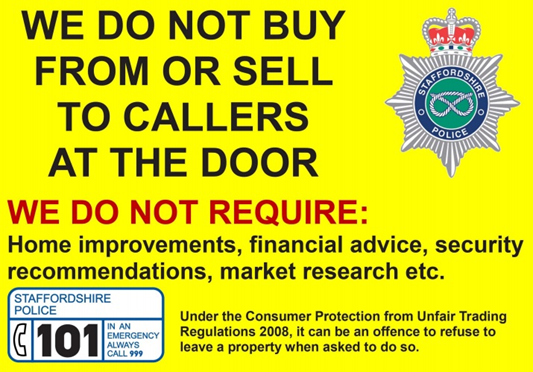 Do not buy or sell sign